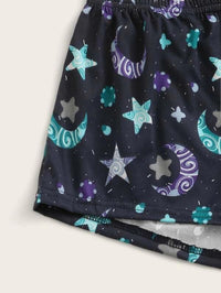 Girls Galaxy Cami PJ Set With Eye Mask