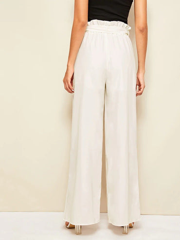 Paperbag Waist Belted Palazzo Pants