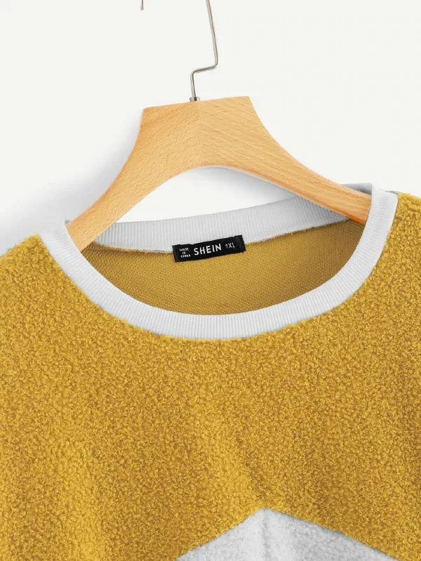 Plus Cut-And-Sew Teddy Sweatshirt