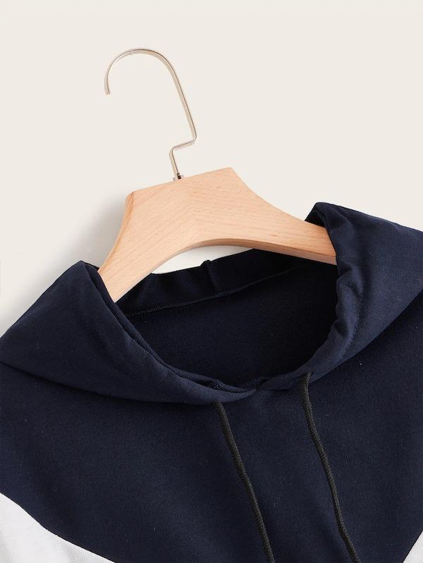Plus Cut And Sew Drawstring Hoodie