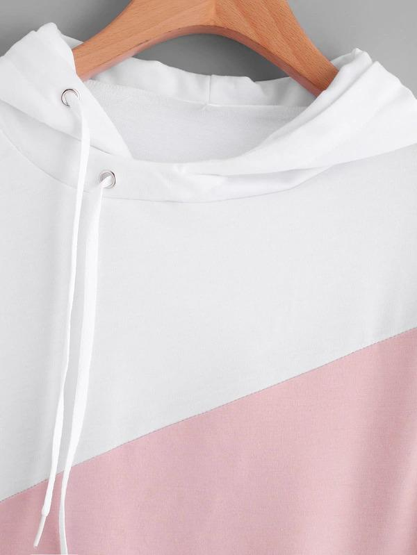 Plus Pocket Drawstring Detail Hoodie