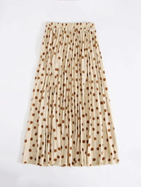 Women Polka Dot Pleated Skirt