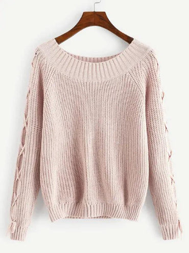 Raglan Sleeve Solid Jumper