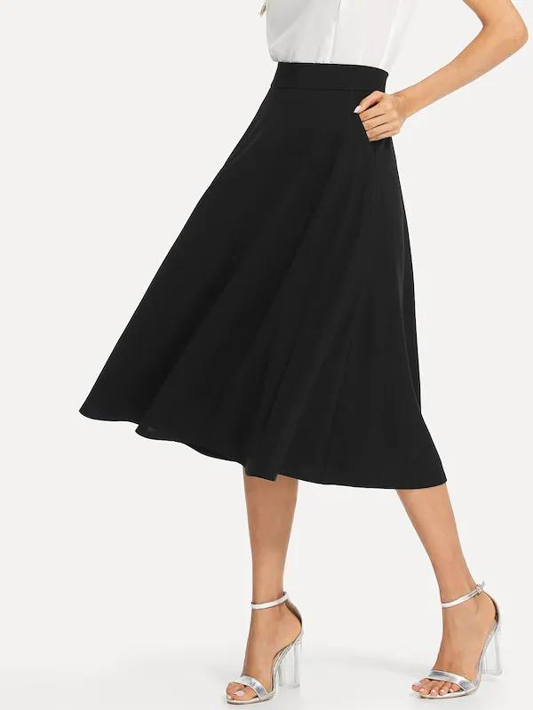 Slant Pocket Side Circle Skirt