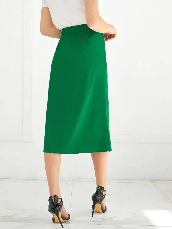 Slit Side Midi Skirt