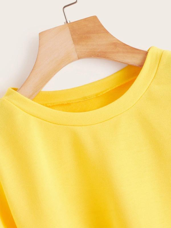 Solid Round Neck Sweatshirt