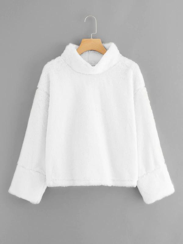 Stand Collar Teddy Sweatshirt