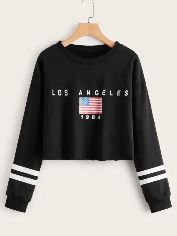 Stars And Stripes Varsity Striped Sweatshirt