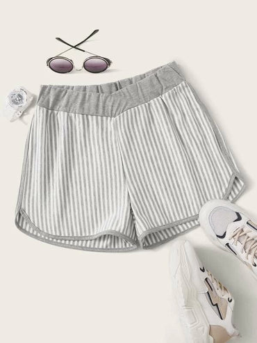 Women Stripe Print Track Shorts