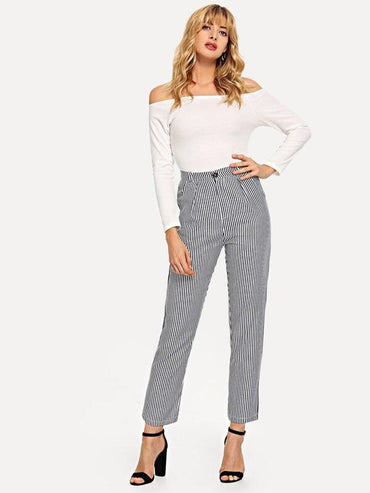 Striped Pocket Side Pants