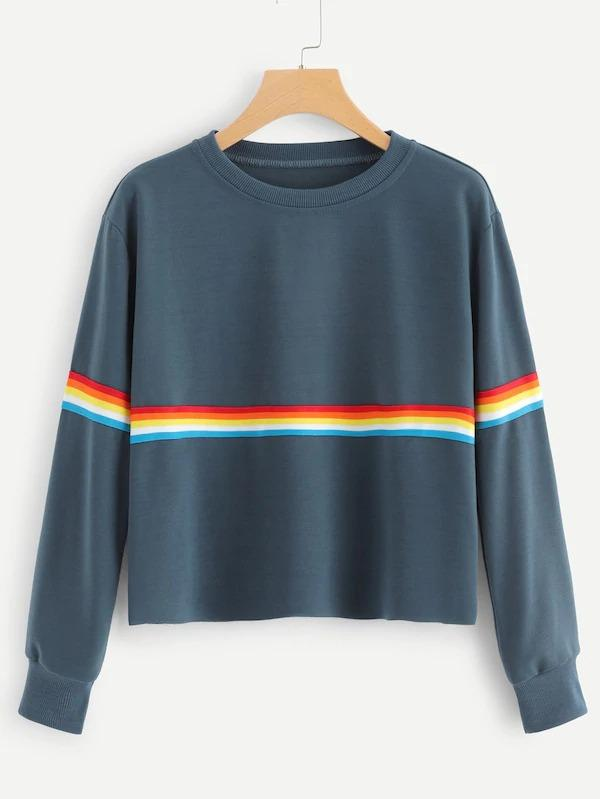 Striped Tape Sweatshirt