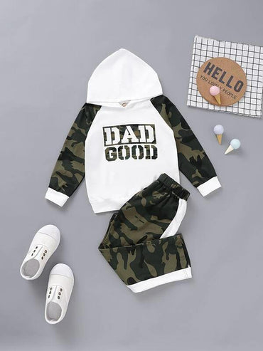 Toddler-Boys-Letter-Graphic-Hoodie-&-Camo-Pants-