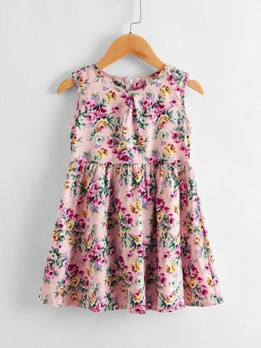 Toddler Girls Allover Floral Print Smock Dress