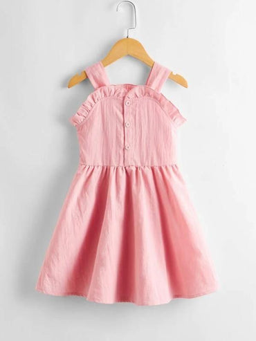 Toddler Girls Ruffle Trim Cami Dress