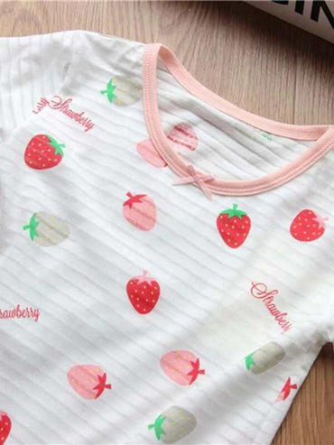 Toddler Girls Strawberry Print Tee Dress