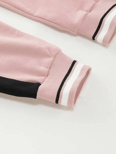 Toddler Girl Colorblock Striped Hem Sweatpants