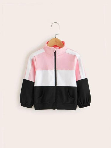 Toddler Girls Cut And Sew Sport Jacket