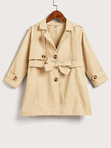 Toddler Girls Single Breasted Belted Trench Coat