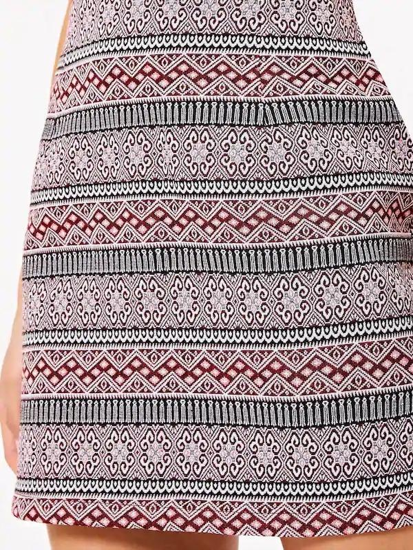 Tribal Print Zip Back Skirt