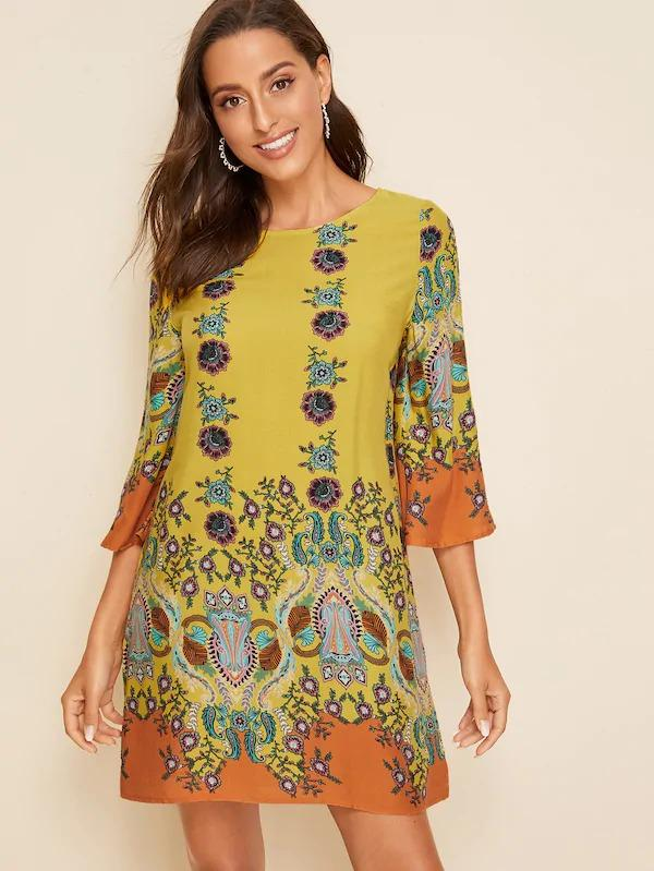 Tribal Print Tunic Dress