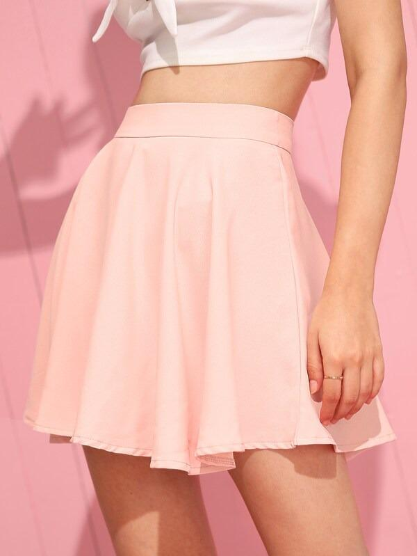 Zip Back Skater Skirt