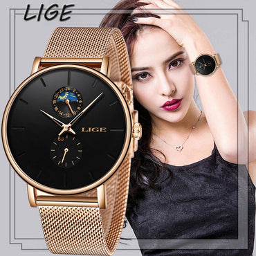 Women Luxury Brand Waterproof Fashion Ultra Thin Wrist Watch