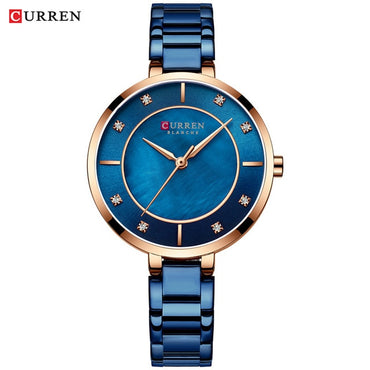 Fashion Luxury Rhinestone Women Dial Quartz Wristwatch