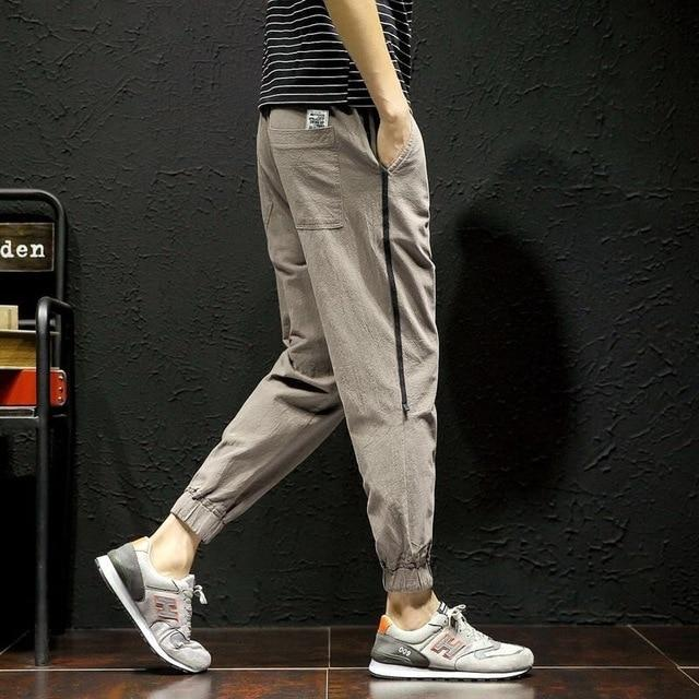 Men's Fashion Streetwear Side Pockets Cargo Harem Pants