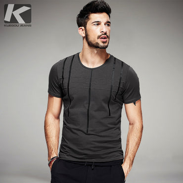 Men Cotton Stripe Short Sleeve T-Shirt