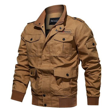 Men Jacket Top Quality Cotton Military Style Multi Pocket  Bomber Jacket
