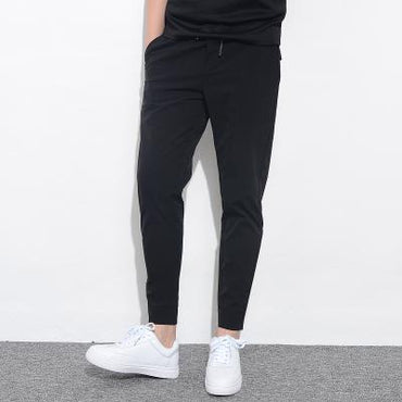 New Fashion Men Stretch Solid Slim Fit  Elastic Harem Pants