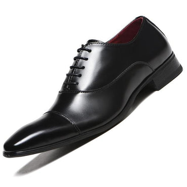New Fashion Men Leather Lace Up Formal Shoes