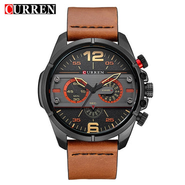Men Luxury Brand Leather Sports Quartz Wristwatches