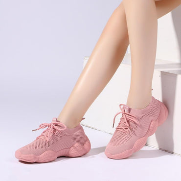 Women Mesh Breathable Lace-up Lightweight Fashion Sneakers