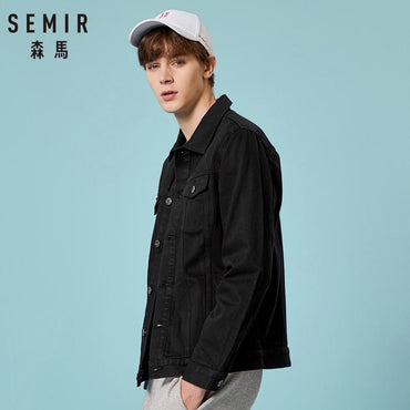 Men Denim Jacket  Classic Fashion Top Brand Designer Washed Jean Jacket