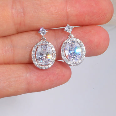 Women Luxury Shining AAA Cubic Zircon Drop Earrings