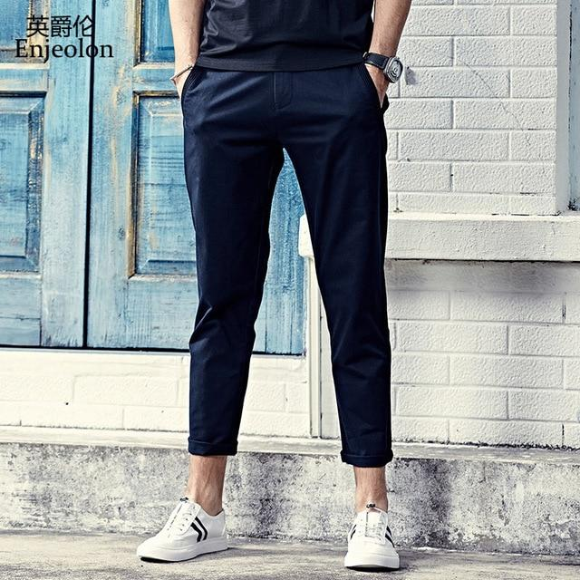 Top Brand Men Fashion Pencil Solid Casual Pants