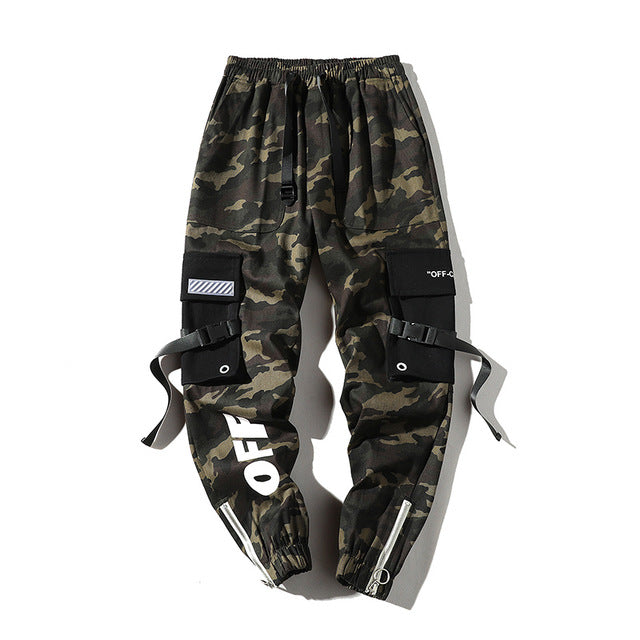 Men Camouflage Streetwear Tactical Pants