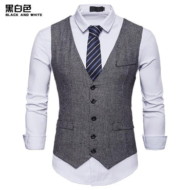 Hot Fashion Men Formal Dress Vest Colete Gilet Fitness Sleeveless Jacket