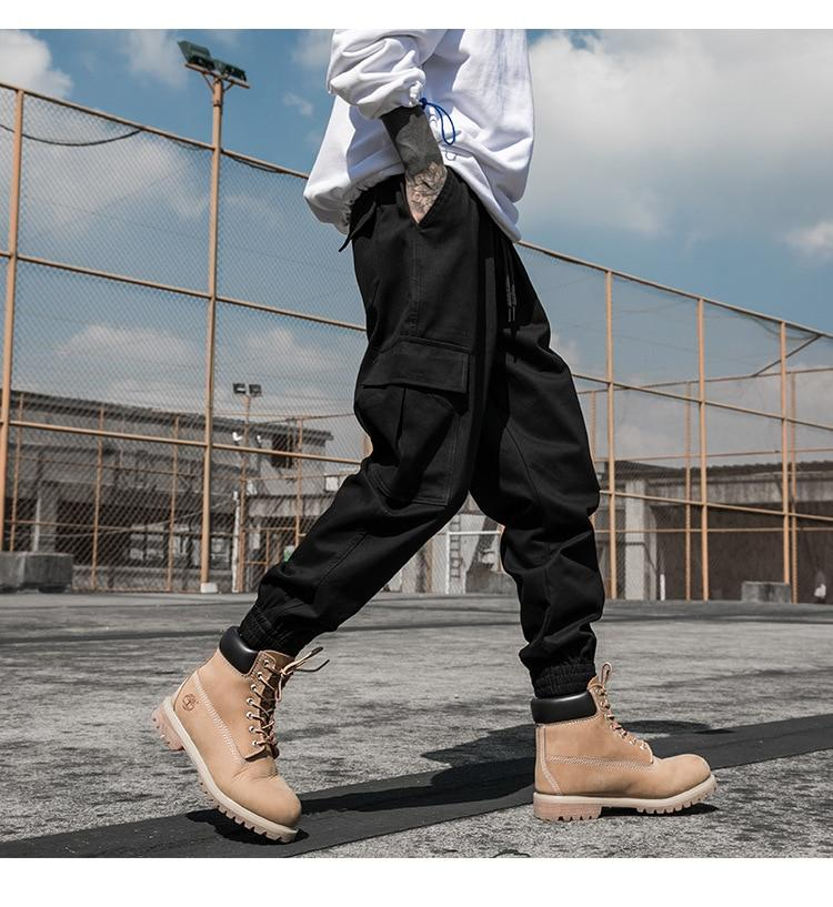 Cool Fashion Men Joggers Camouflage Side Pockets Loose Style Casual Sweatpants