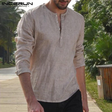 Men Long Sleeve Breathable Leisure Fashion Casual Shirt