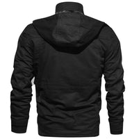 Men Winter Jacket Thick Thermal Coat Army Style Cargo Fleece Hooded Jacket