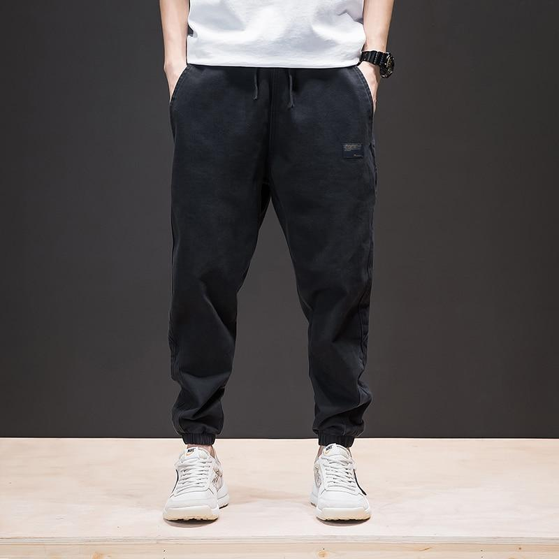 Hip Hop Style Do old Washs Drawstring Men's Harem Pants