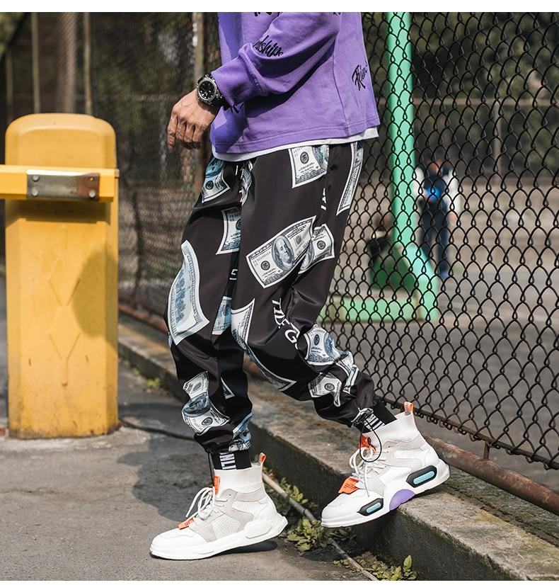 New Fashion Printed Men Harem Pants Hip Hop Casual Streetwear Joggers
