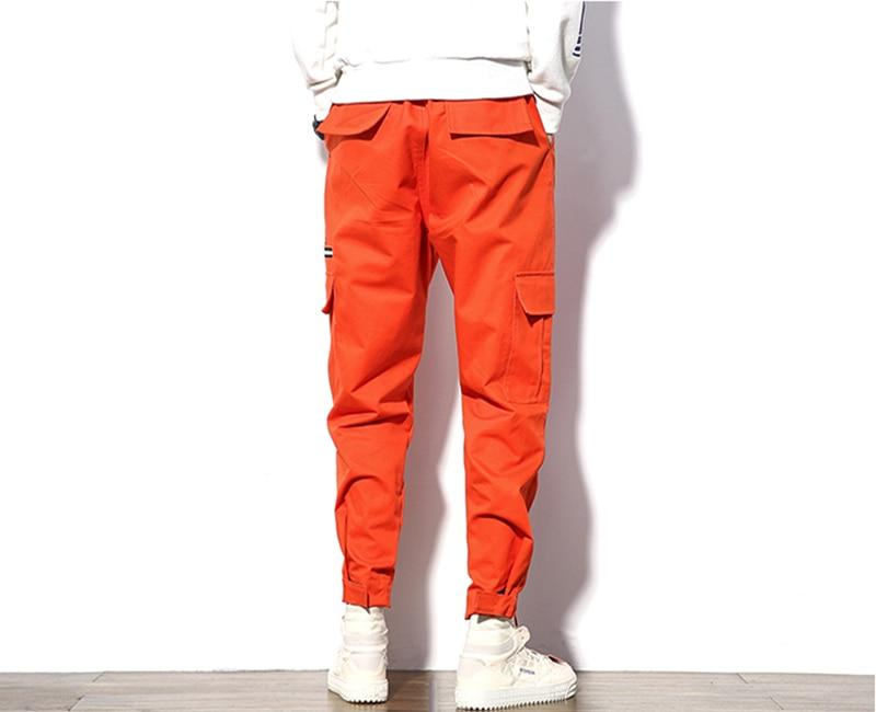 Men Jogger Cargo Pants Cotton Multi-Pocket Safari Style Fashion Design