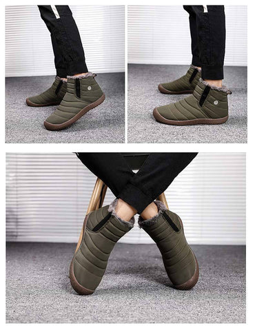 Men Boots Super Warm Winter Waterproof Hight Quality Snow Ankle Boots