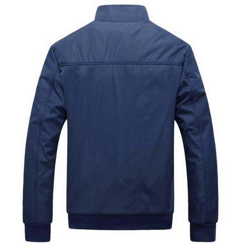 Men Bomber Jacket Solid Color Classic Fashion Windbreaker Jackets