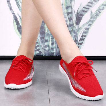Womens Soft Mesh Breathable Anti-Slip Walking Sneakers