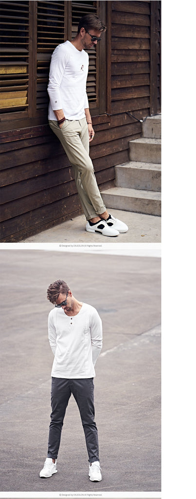 Top Brand Design Men Fashion Long Straight Pants