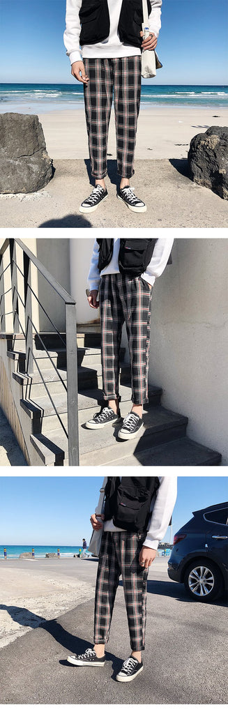 Men Cotton Streetwear Retro Joggers Casual Pants
